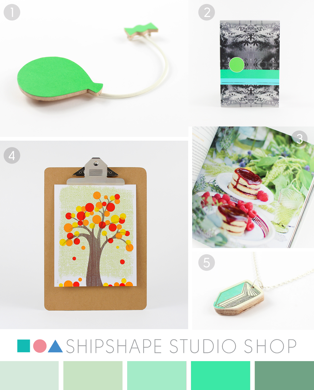 Green colour moodboard from Shipshape Studio