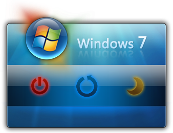 Windows7 Shutdown widget for xwidget.