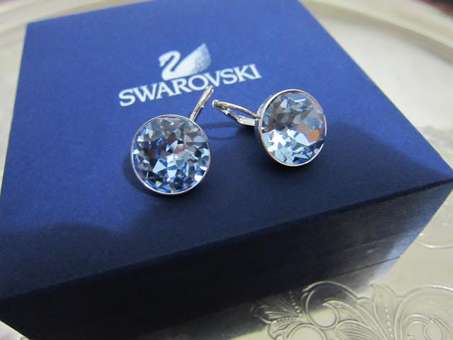 Swarovski Bella Light Sapphire Pierced Earrings