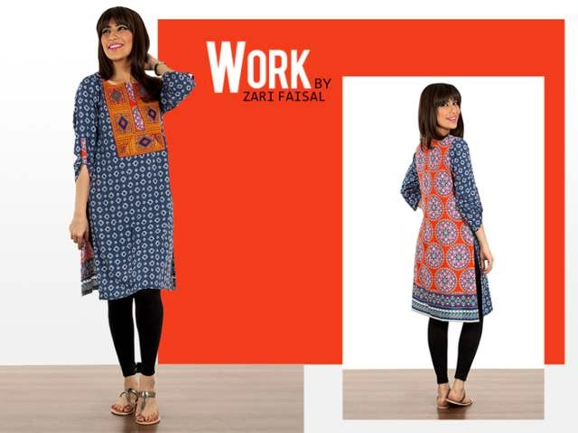 Latest Winter Dresses 2015 by Zari Faisal