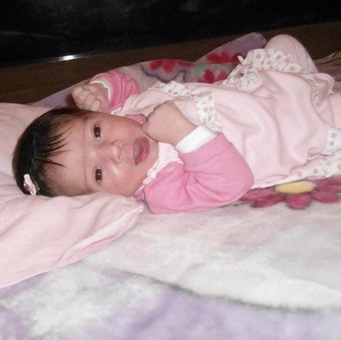 Minha primeira neta  nasceu em 20/01/2012.
