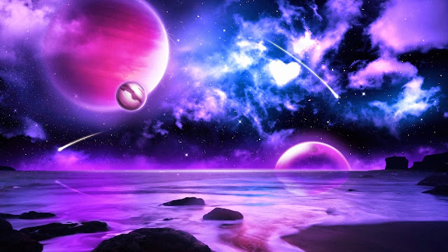 14736-Purple Planet HD Wallpaperz