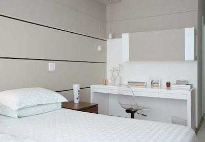 quarto+de+casal+branco+Casa+e+Jardim Decoração de quartos na cor branca