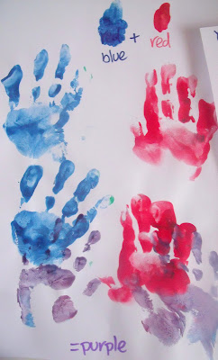 Colour mixing for toddlers