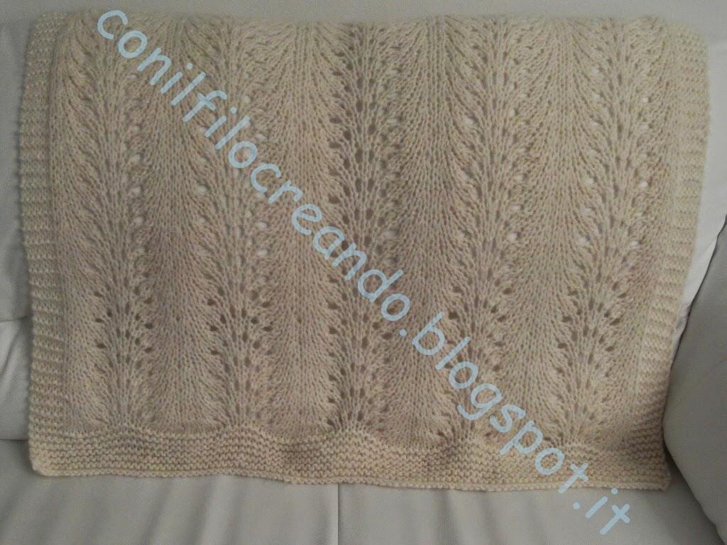 copertine neonato lettino in lana fatta a mano ai ferri - Copertine Lettino Neonato Ai Ferri