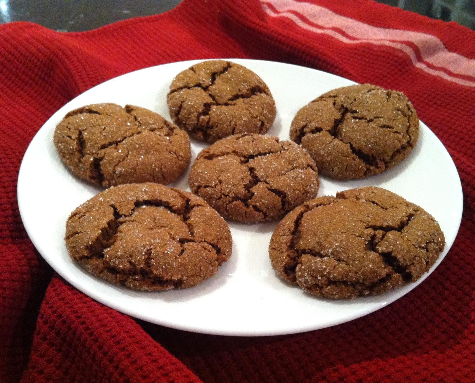 {vegan} molasses cookies @ Southern Spoon blog