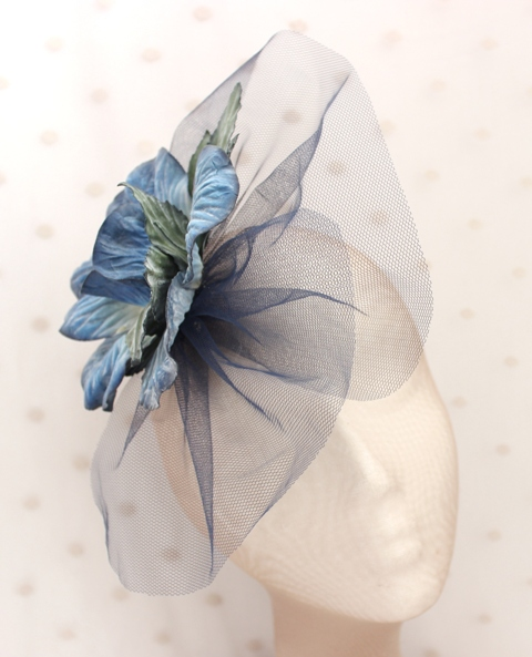 Colección Bailando Swing - Tocado tul flor azul