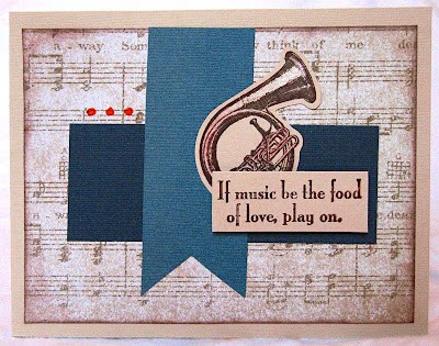 Music-Love Card, layout inspired by Mojo Monday and stamps by TPC Studio