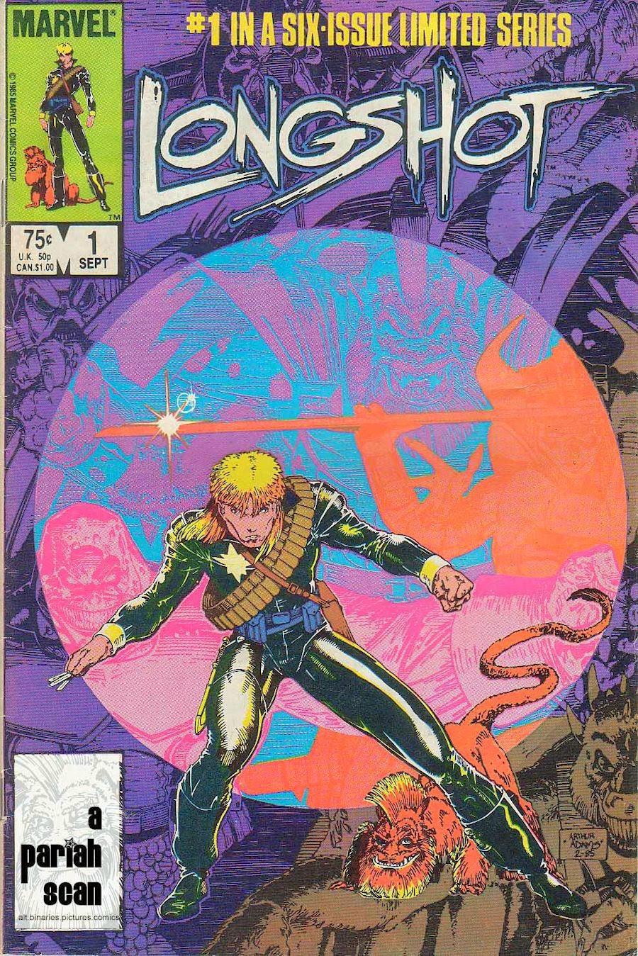 História em Quadrinhos - Longshot - Marvel
