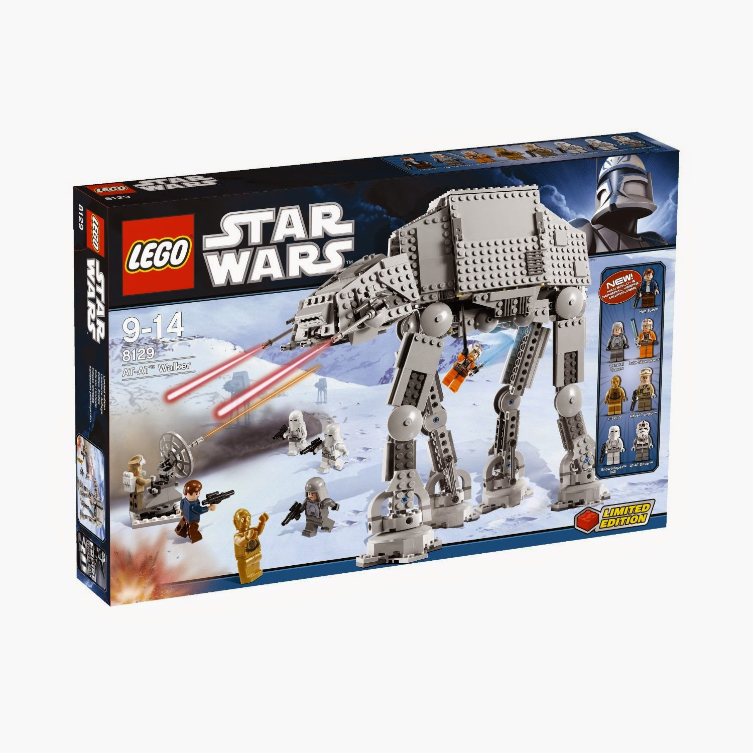 Caja Lego Star Wars AT-AT (8129)