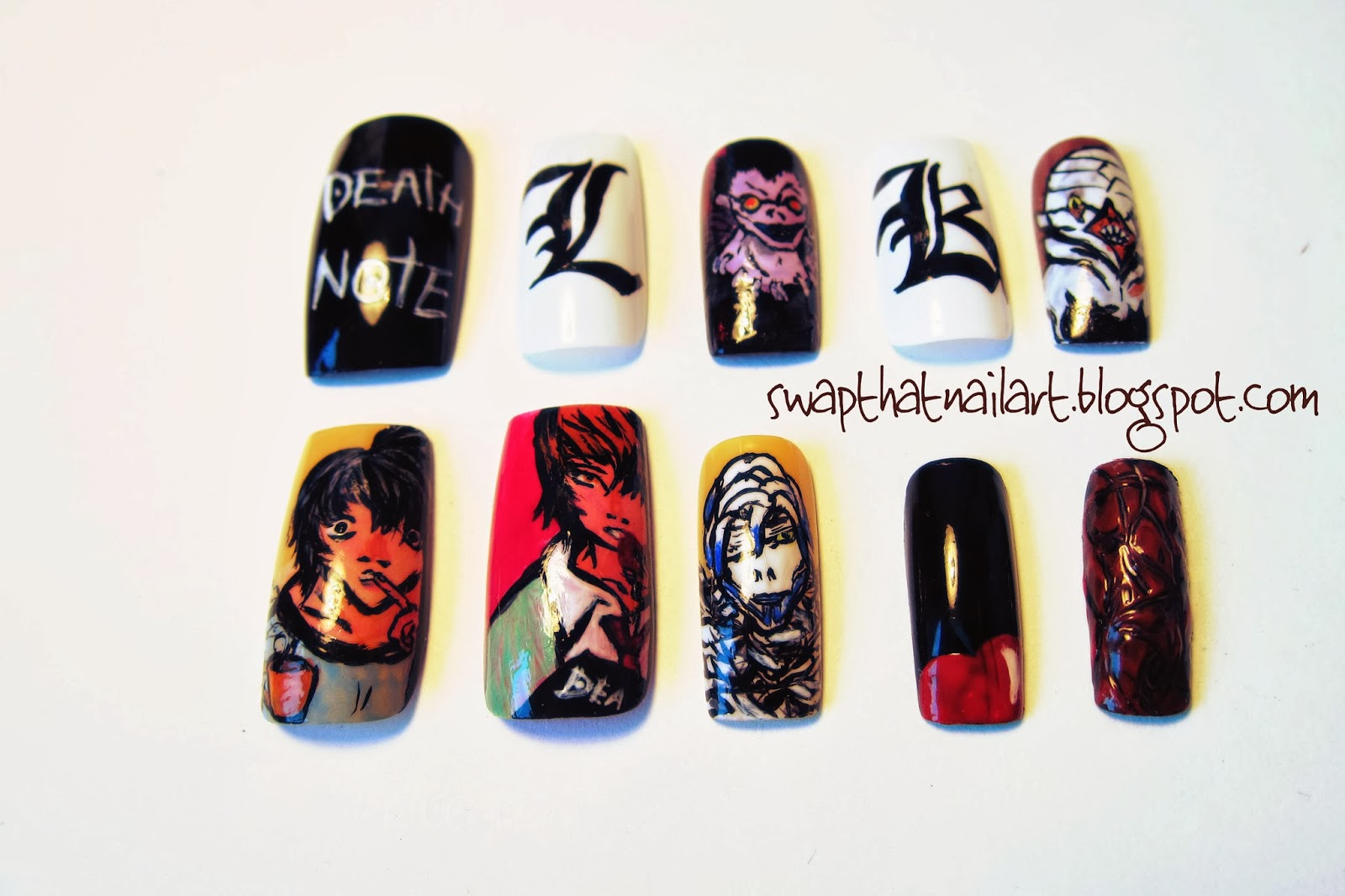 Death Note Nails- v.2 | Swap That Nail