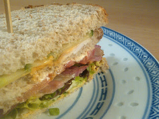 clubsandwich gerookte kip spek