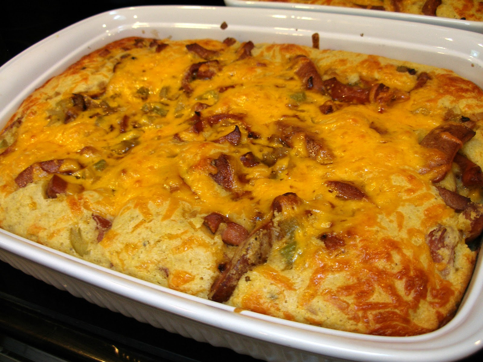 It's all good.: Corn Dog Casserole
