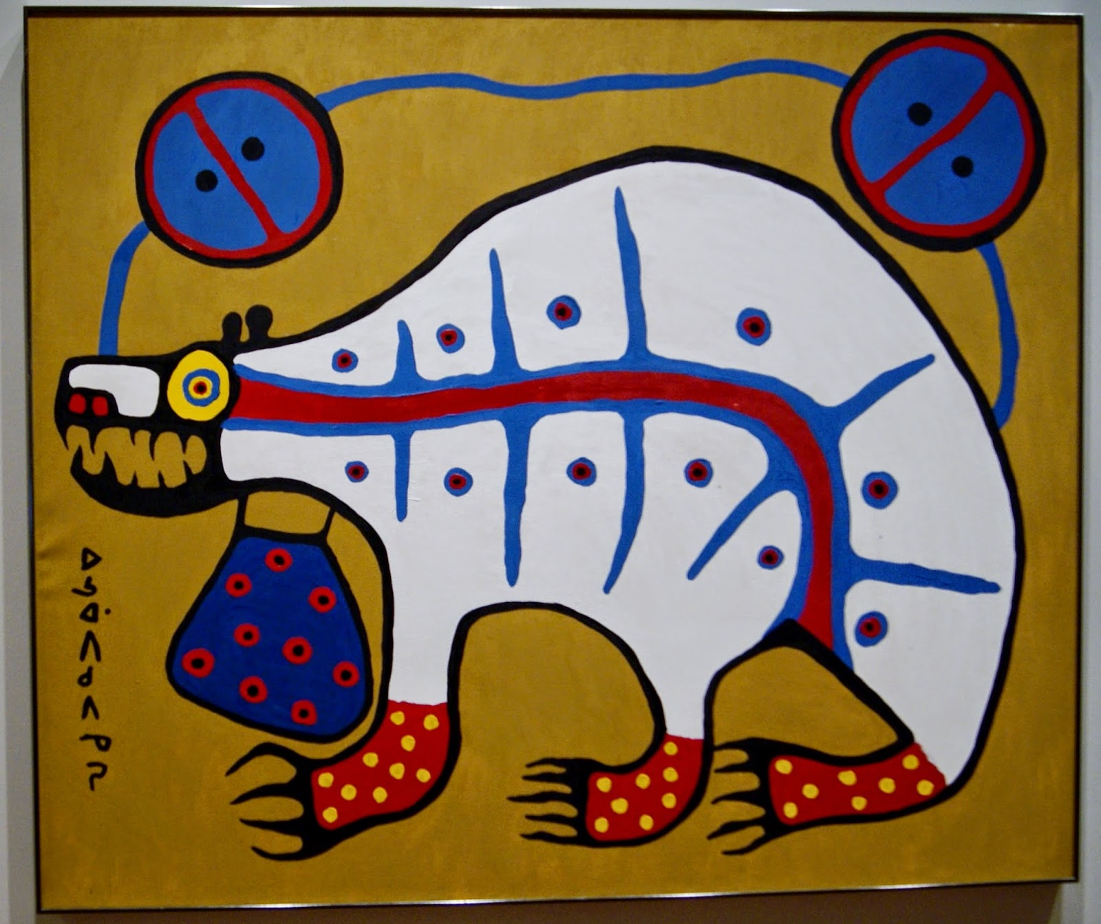 Before and after the Horizon: Anishinaabe Artists of The Great Lakes Exhibition at The Art Gallery of Ontario in Toronto, Culture, Native, Aboriginal, History, Ontario, Canada, The Purple Scarf, Melanie.Ps, Norval Morrisseau, Scared Medicine Bear