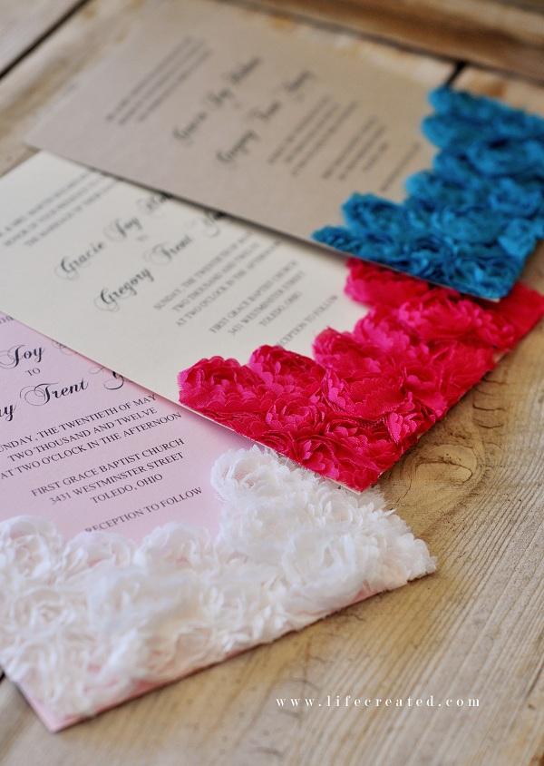 Diy wedding invitations wedding invitations for Easy diy wedding invitations instructions