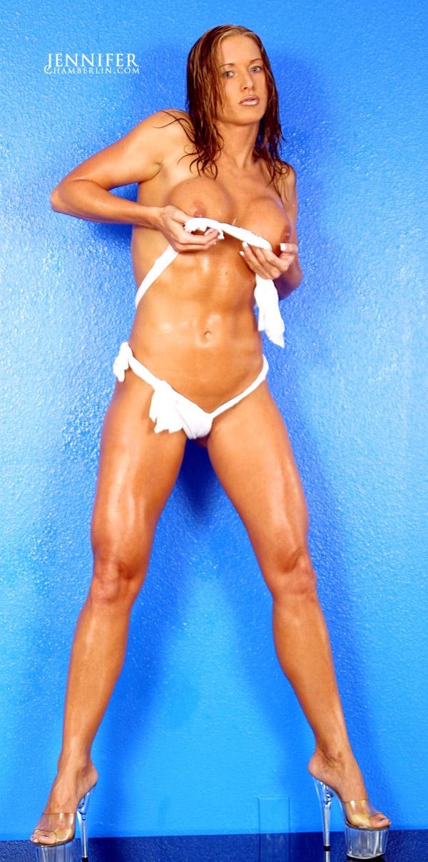 Jennifer Chamberlin White Bikini