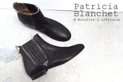 Bottines Patricia Blanchet cuir noir glitter