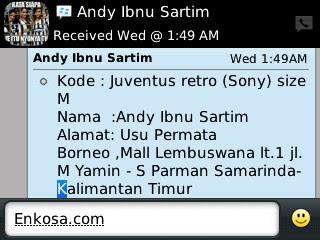 Konfirmasi alamat lengkap Andy Ibnu sartim di enkosa.com toko online tepercaya screenshot testimoni enkosa sport