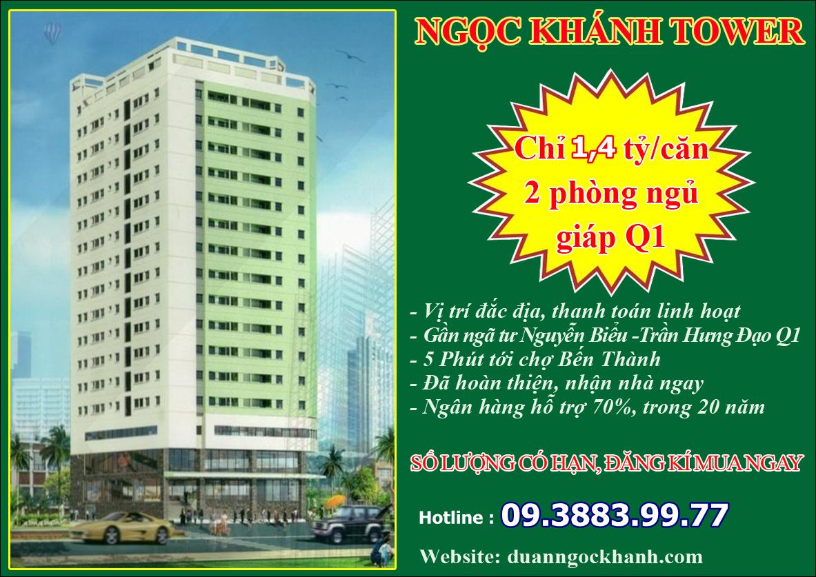 Mở bán căn hộ Ngọc Khánh - Nguyễn Biểu - Quận 5
