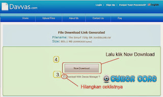 Cara Download di Davvas