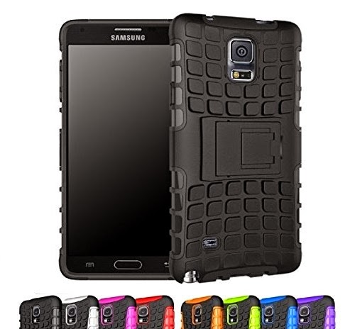 CINEYO(TM) Heavy Duty Rugged Dual Layer Case with kickstand for Samsung Galaxy Note 4