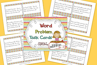 Word Problem Task Cards Addition 1-20
