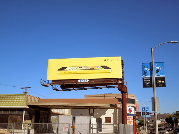 Apple iPhone 5c yellow billboard