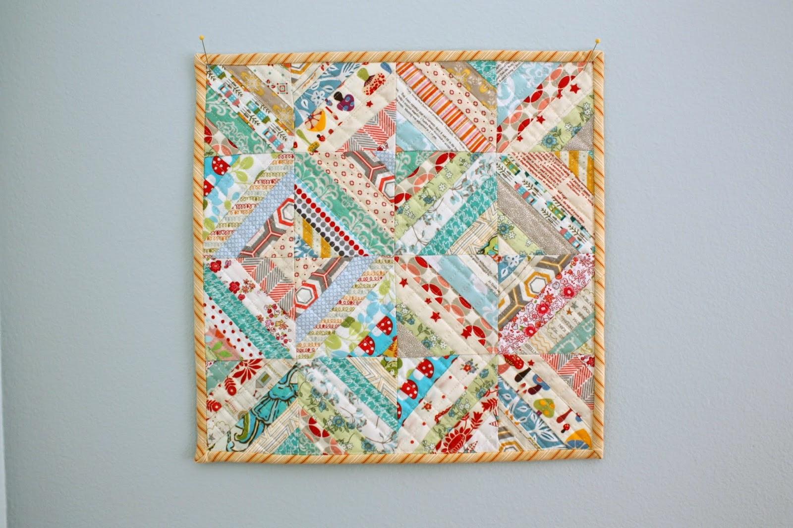 Easy Scrap Quilt Block Patterns : Easy Scrap fabric quilt block - Diary of a Quilter - a quilt blog