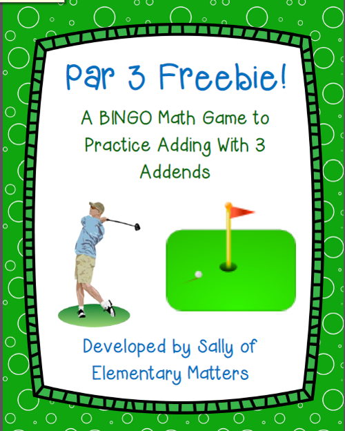 https://www.teacherspayteachers.com/Product/Par-3-Adding-3-Addends-Freebie-277171