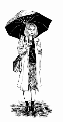 Girl With Umbrella by Christianne Benedict