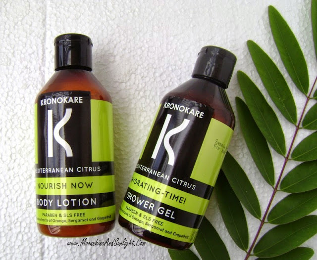 Kronokare Mediterranean Citrus Showel Gel & Body Lotion Review | A body lotion or a mist?? || Paraben and SLS free