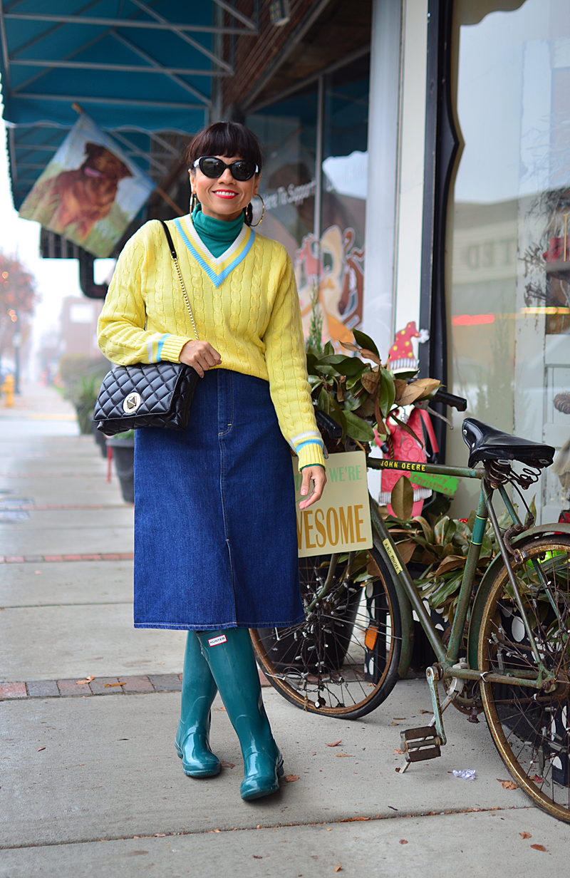 Hunter boots street style