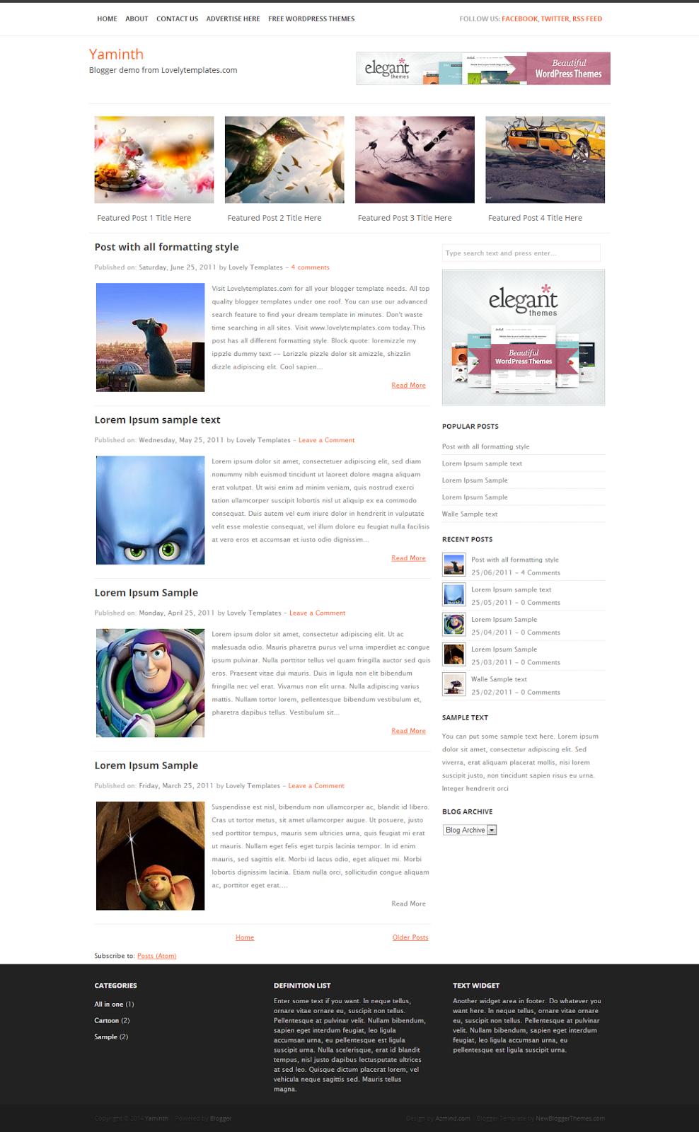 Blogger Yaminth Blog Teması