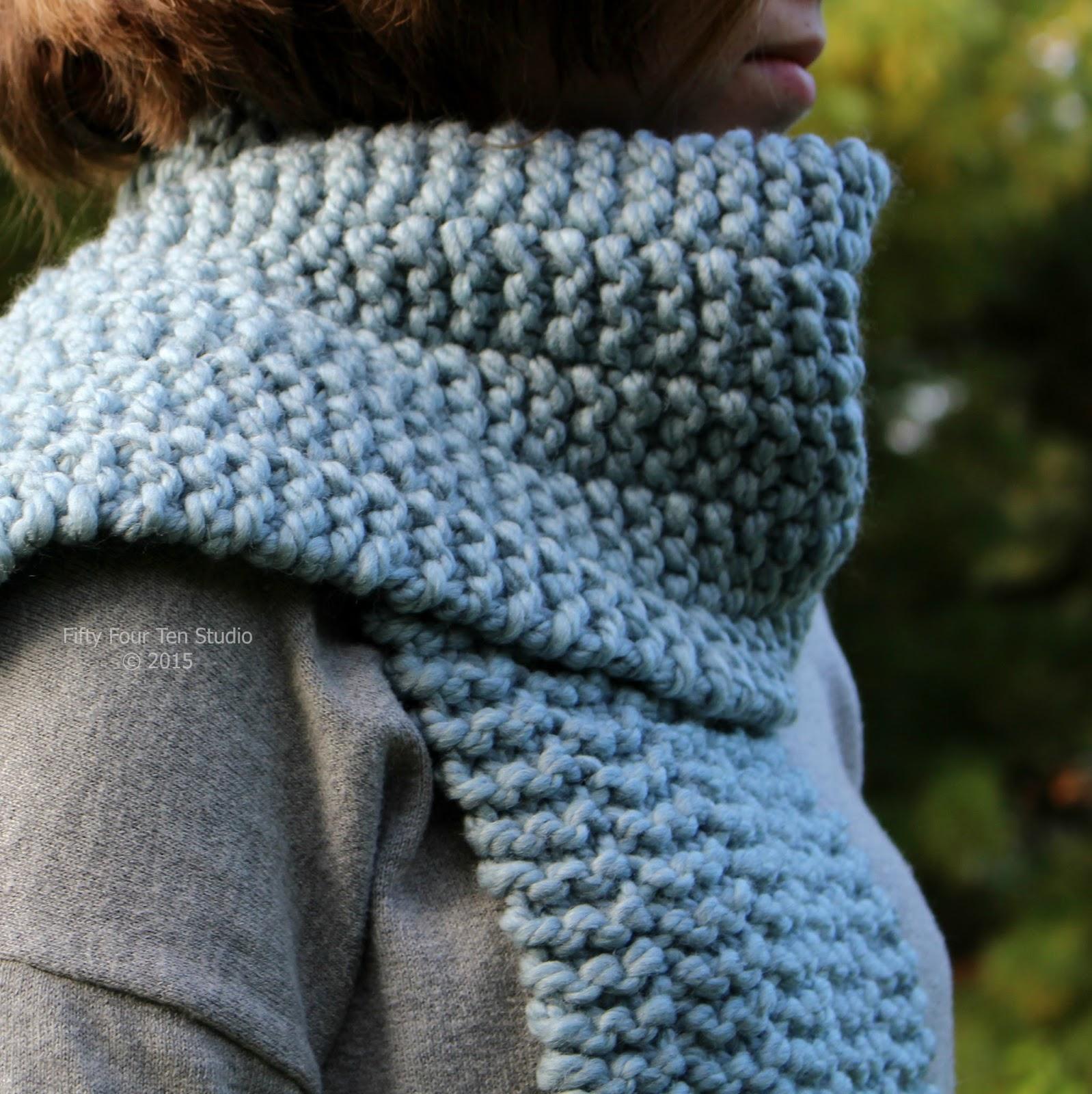 Fifty Four Ten Studio: New Easy Scarf Knitting Pattern - Side Line Scarf