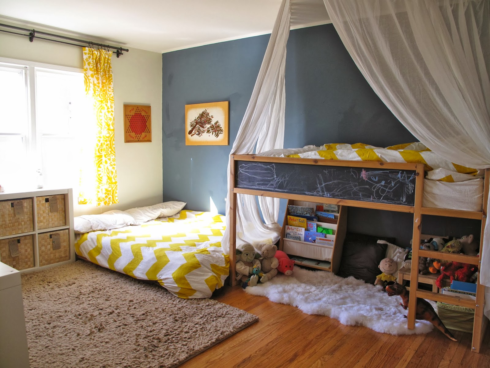 Two bedrooms and a baby tt 39 s montessori room shared boy 4 beds in one room