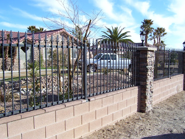 Brick And Wrought Iron Fencing8