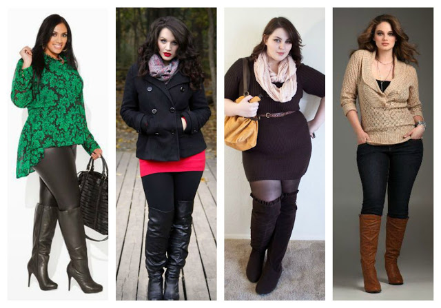 Outfits con botas para mujeres plus size