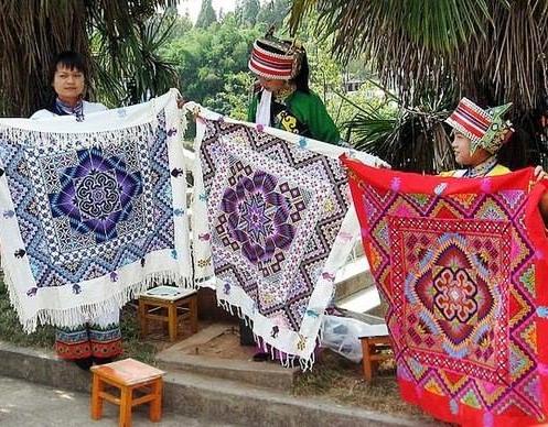 geometric Ukrainian cross-stitch