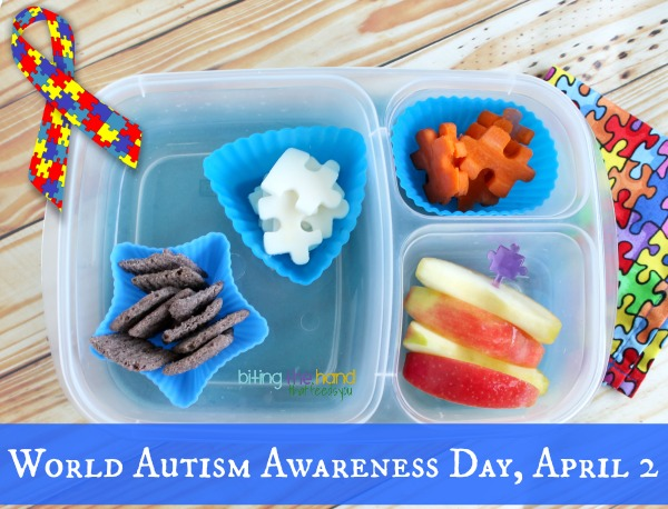 Autism Awareness Day quick and easy puzzle bento lunch