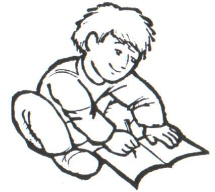Niño haciendo su tarea, escribiendo en su cuaderno - Portal Escuela