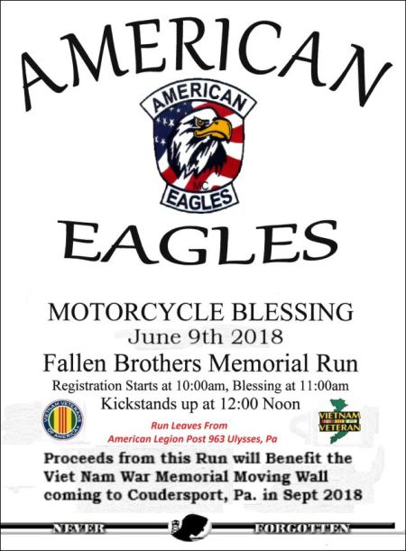 6-9 American Eagles Motorcycle Blessing