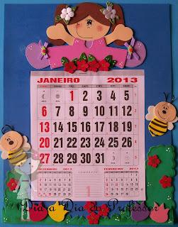 Calendário decorado