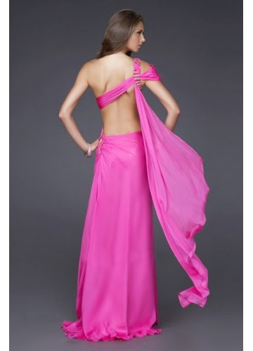 long pink Elegant Prom Dresses For You
