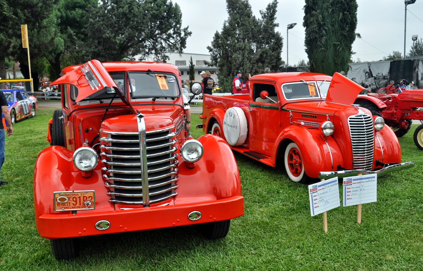 Just A Car Guy And Diamond T Trucks At The Friends Of Steve - Chino hills car show