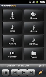 screenshots Winamp Untuk Android 1