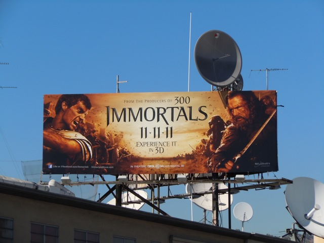 Immortals movie billboard