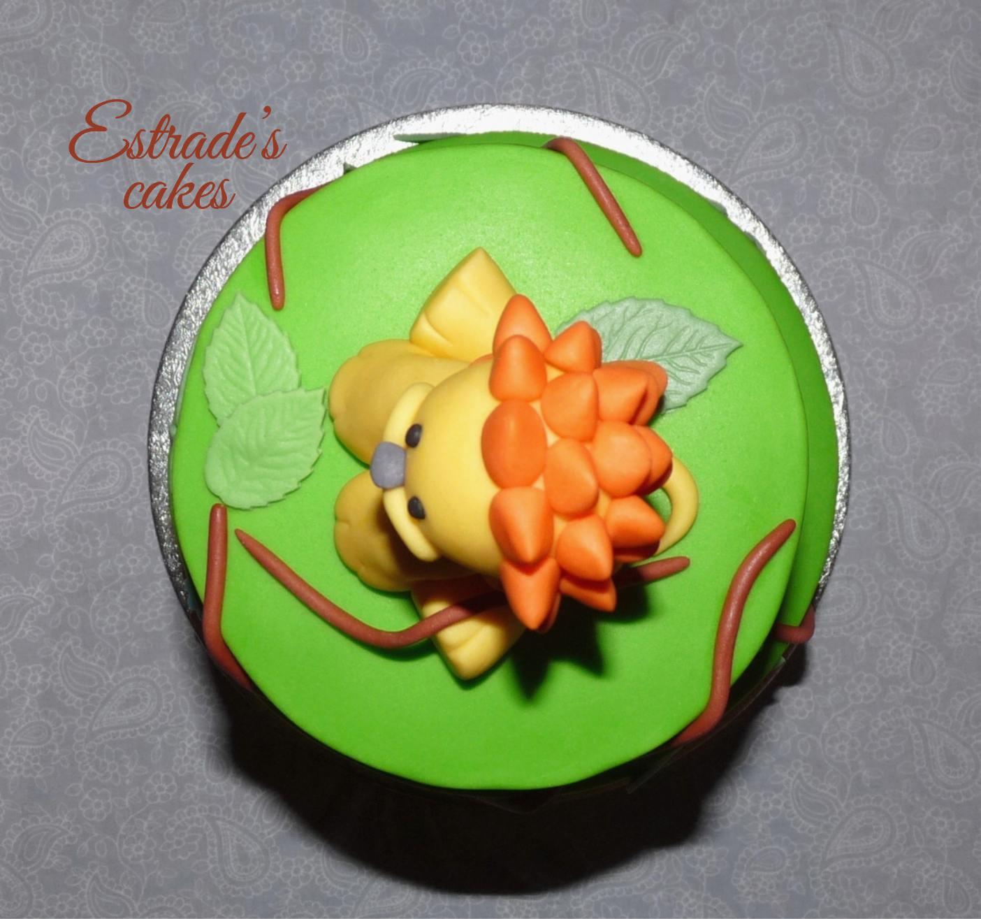 tarta con leon de fondant - 4