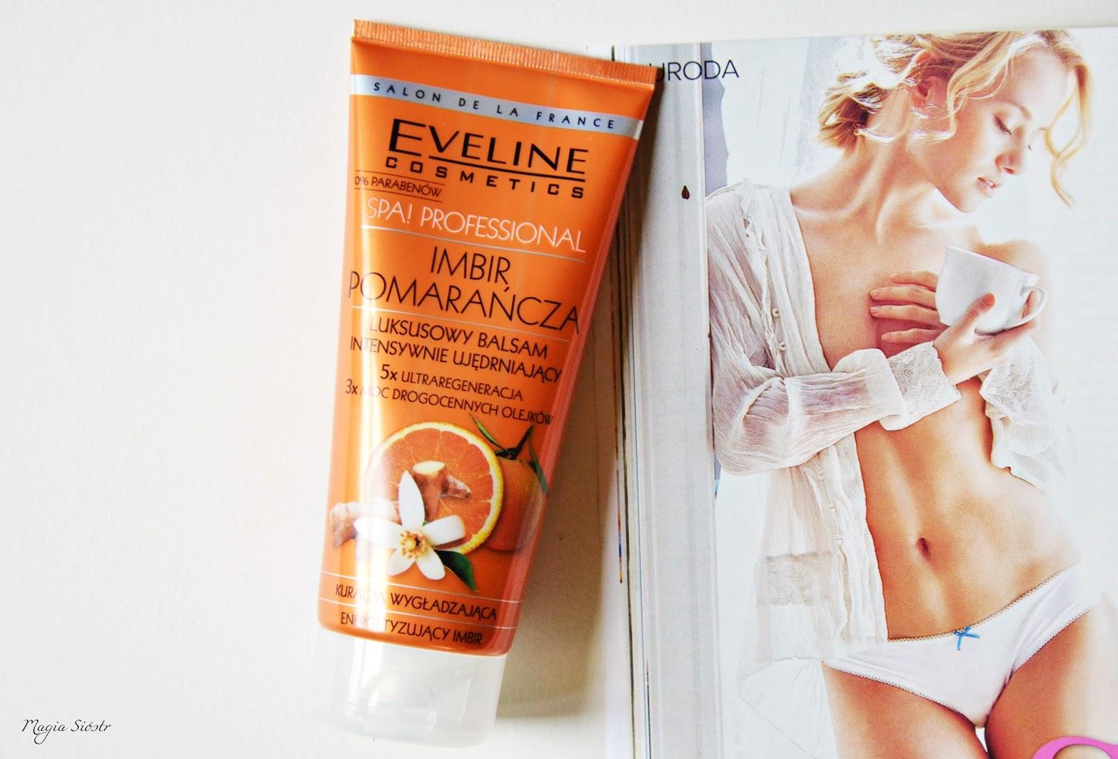 imbir i pomarańcza, zapach świąt, pielęgnacja ciała, balsam ujędrniający, kosmetyki eveline