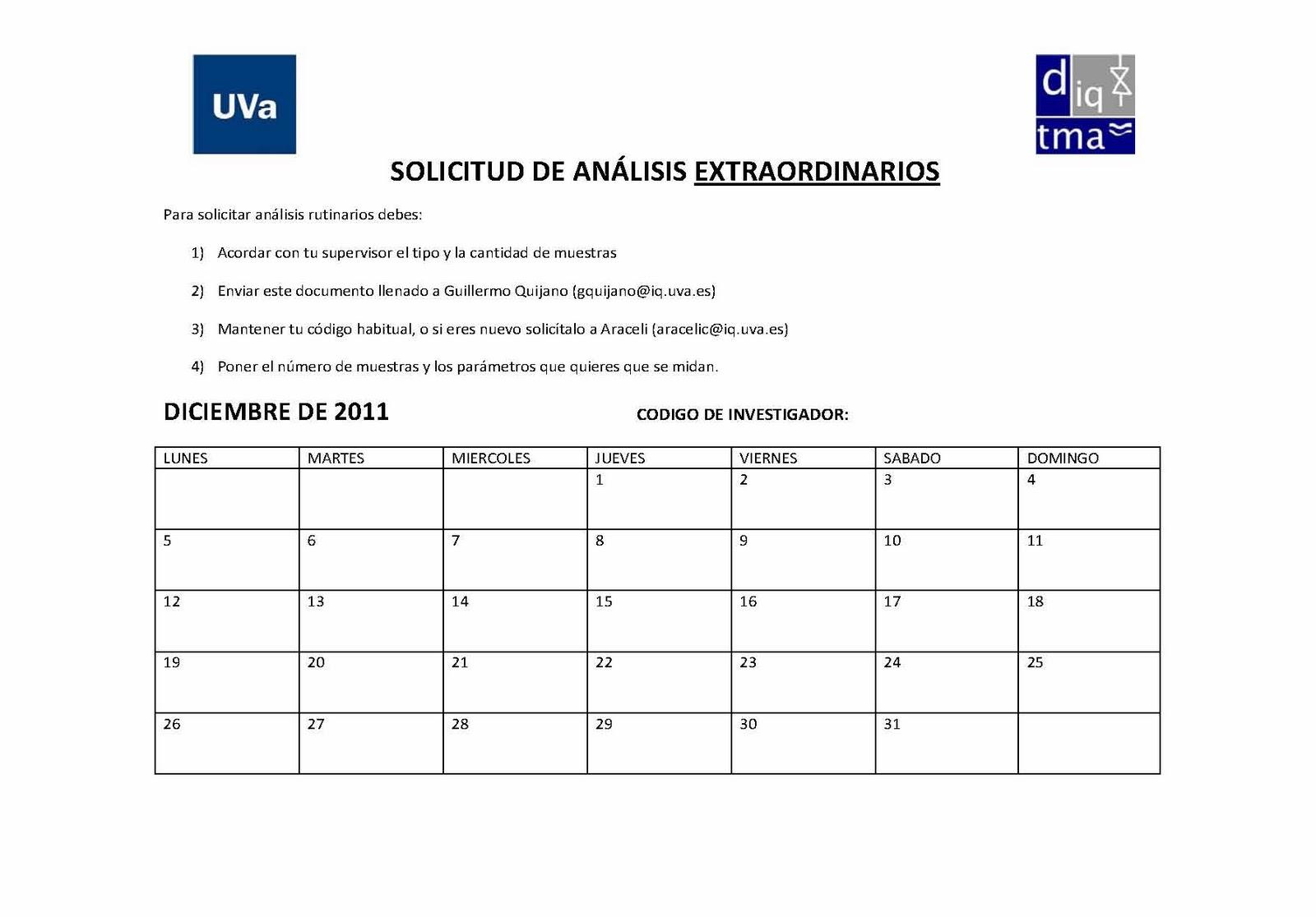 GIR Tecnología Ambiental - UVa: Análisis Extraordinarios Laboratorio ...