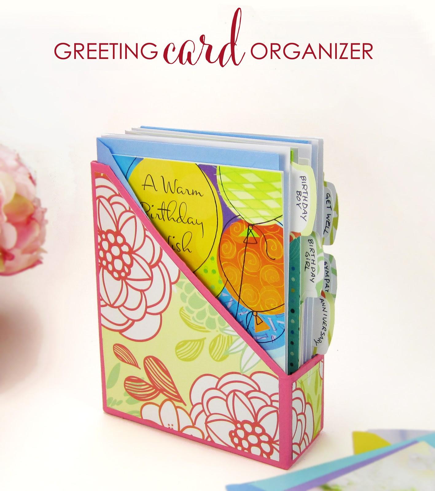 365 Designs: DIY Greeting Card Organizer